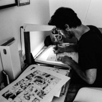 In the black and white at work gallery: drawing a comics