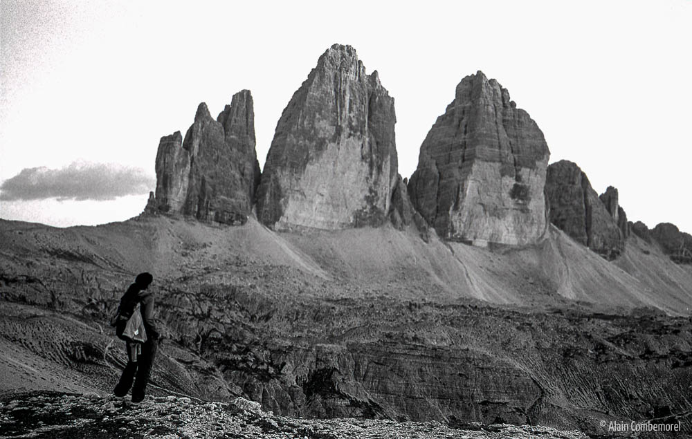 Tre Cime di Lavaredo, Black and white