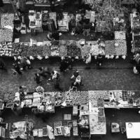 Picture in black & white of La Fayette Street market - Toulon