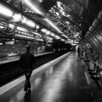 Picture in black & white of Art et Metier Station - Paris