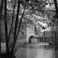A view of Criel a mill at Hem-Ardinval in Black and White- Large Format (4x5) photography
