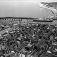 A view of Le Treport in Black and White- Large Format (4x5) photography
