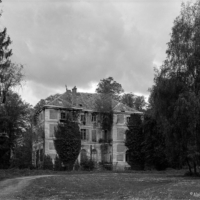 A view of an abandonned castle in Black and White- Large Format (4x5) photography